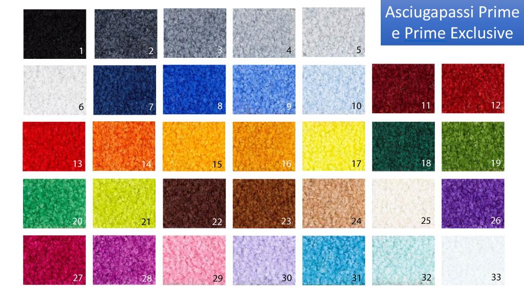 tappeti asciugapassi serie prime e prime exclusive